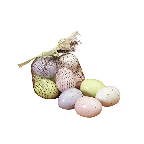 (12 Artificial Speckled Easter Eggs in Pastel Colors - 2 Inch Eggs in Lavender, Blue, Green,)