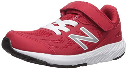 New Balance Boys' 519v1 Hook and Loop Running Shoe, Team RED, 2W - Balance Girls New
