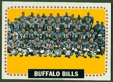1964 Topps Regular (Football) Card# 43 Buffalo Bills Team of the Buffalo Bills VGX (1964 Buffalo Bills)