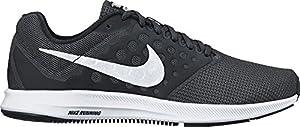 NIKE Men's Downshifter 7 Black/White/Anthracite Running Shoe 10 Men US