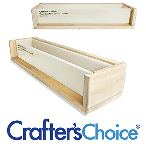 Crafter's Choice 20'' Long Wood Soap Mold w Silicone Liner Insert by Crafter's Choice