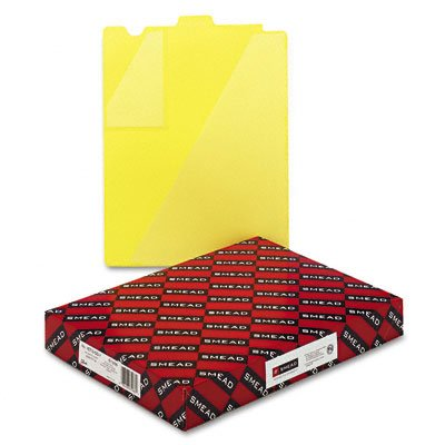 (Smead Vinyl End Tab Outguides, Two Diagonal Cut Pockets, Letter Size, Yellow, 50/Box (SMD61966) Category: End-Tab)