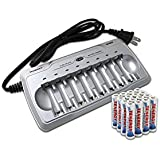Combo: Tenergy TN145 8-Bay AA/AAA NiMH BatteryCharger + 16 AAA Premium Batteries