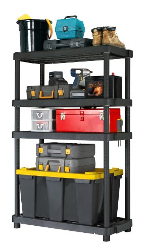 (Gracious Living Adjustable 4-Shelf Heavy Duty Shelving Unit)