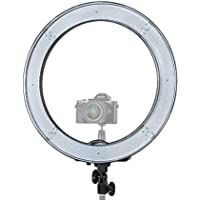 Prismatic LED Halo Ring Light with 6 Light Stand for Photo/Video Lighting