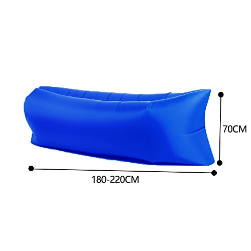 Inflable sofá tumbona silla de compresión saco de dormir, camas de aire, portátil, Air colchones camas. Ideal para descansar, Camping, playa, pesca, niños, ...