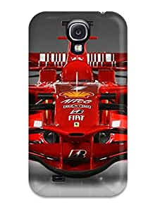 Premium Ferrari Background Back Cover Snap On Case For Galaxy S4