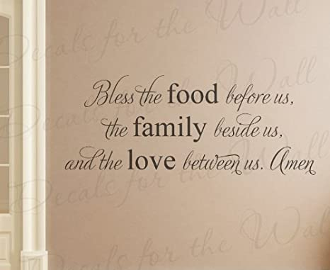 Amazon Bless The Food Before Us Family Beside And Love Between Amen
