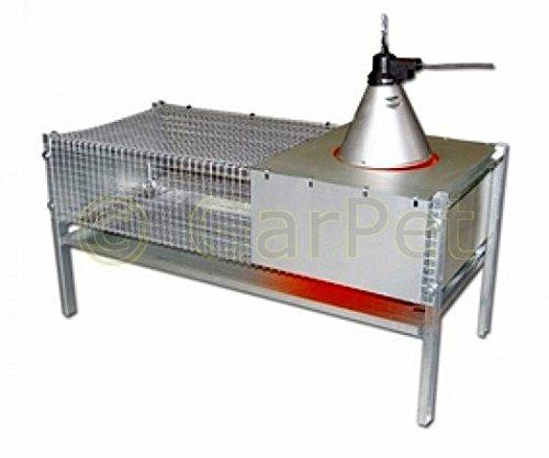 Küken Aufzucht Wärme Box Heim Metall Aufzuchtbox 100x50x50 für 50-60 Küken