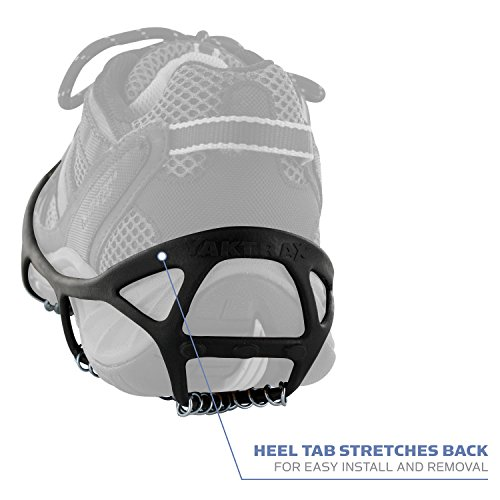 Yaktrax Walk Traction Cleats for Walking on Snow and Ice, Large