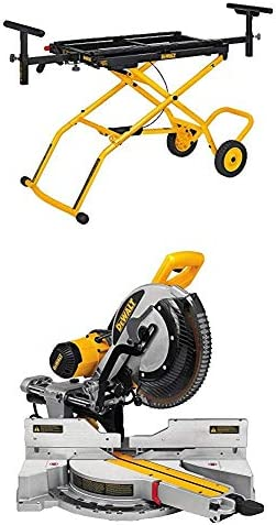 DEWALT DWS779 12 Sliding Compound Miter Saw and DWX726 Rolling Miter Saw Stand