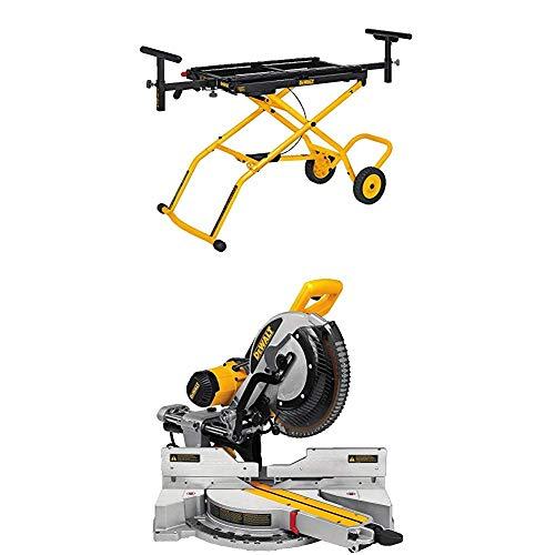 DEWALT DWS779 12 Sliding Compound Miter Saw and DWX726 Rolling Miter Saw Stand