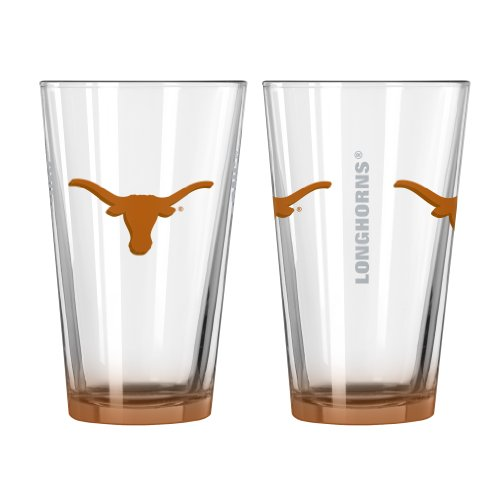 NCAA Texas Longhorns Elite Pint Glass, 16-ounce, 2-Pack