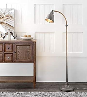 "Safavieh FLL4011A Lighting Collection Naldo 60"" Dark Grey Floor Lamp"