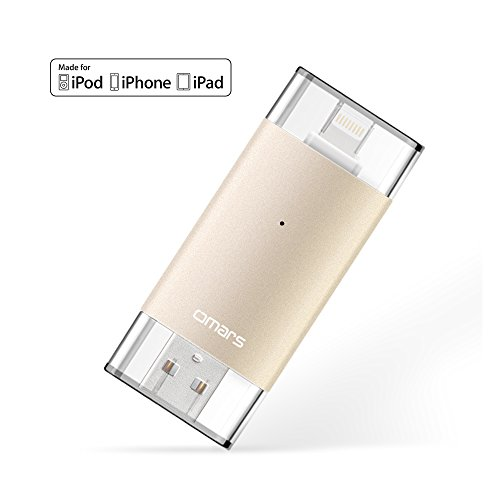 [Apple MFI Certified]oMARS Flash Drive USB 3.0 with Lightning Connector External Storage Memory Expansion for