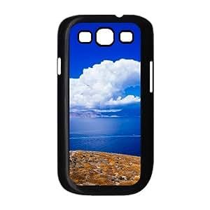 Samsung Galaxy S3 Cases Aegean Blue Sky and White Clouds for Boys, Samsung Galaxy S3 Case I9300 Shockproof for Boys [Black]