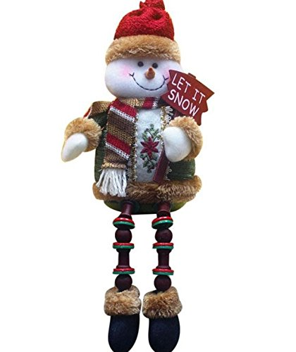 Deserve to Buy Lovely Snowman Sitting Porcelain Doll for Children(Brown) (Snowman Buys)