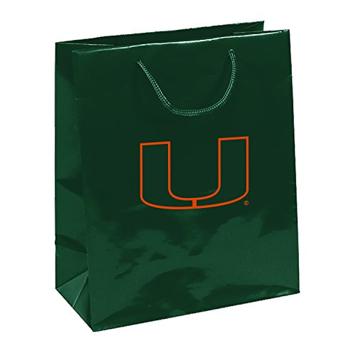 Pro Specialties Group NCAA Miami Hurricanes Gift Bag, Green, One - Bag Pro Specialties