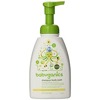 Babyganics Baby Shampoo + Body Wash Pump Bottle, Chamomile Verbena, 16oz