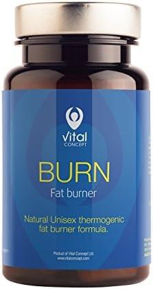BURN - Premium Natürliche Fettverbrennung 60 Kapseln   Für Frauen und Männer   Grüner Kaffee Extrakt, Guarana, Vitamine   Schneller Gewichtsverlust und Abnehmen