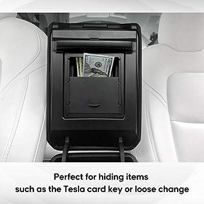 Farasla Center Console Organizer for Tesla Model 3 Model Y, Armrest Hidden Storage Box for Valuable Small Items: Automotive