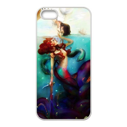 Unique Design Mermaid Colourful Artwork Personalized Custom Phone Case Back Cover for iPhone 5S (TPU)