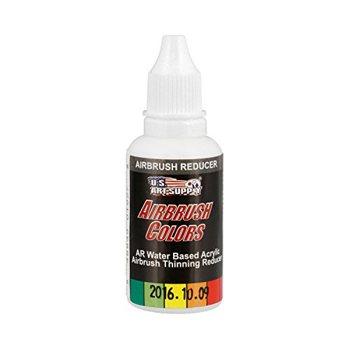 (US Art Supply Airbrush Thinning Reducer and Extender Base, 4 Ounce. Bottle for all Acrylic)