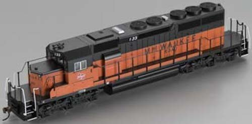 Emd Sd40 2 (Bachmann Industries Milwaukee Road #133 EMD SD40-2 DCC Equipped Diesel Locomotive)