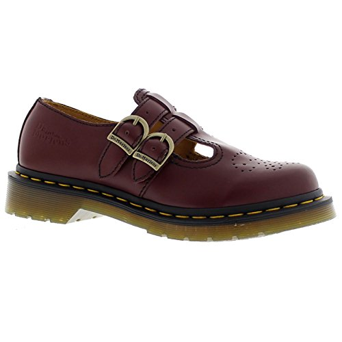 Dr Doc Martens Shoes - Dr. Martens 8065 (Cherry Red Smooth) Women's Maryjane Shoes (5 F(M) UK/7 US)