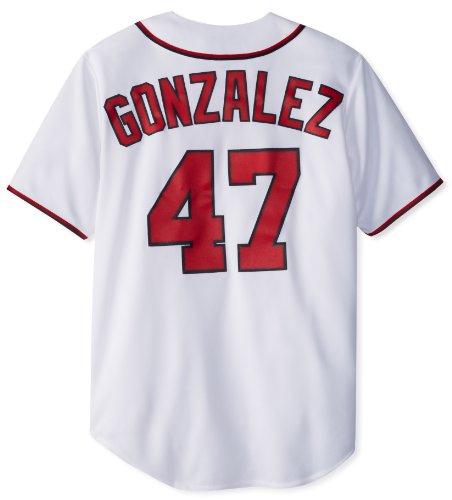 MLB Washington Nationals Gio Gonzalez 47 Replica Jersey, White, (Gonzalez Jersey)