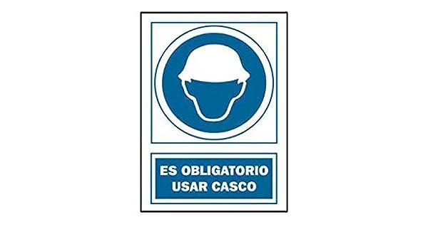 Señal Uso Casco Obligat Pvc 131 Oba Cat: Amazon.es: Bricolaje y ...