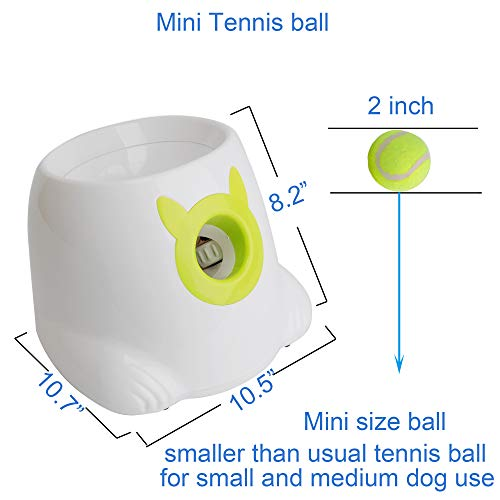 LUCKYERMORE Automatic Dog Ball Launcher Thrower Interactive Throwing and Fetch Dog Toy Mini Tennis Balls for Dog Indoor Outdoor Playing by LUCKYERMORE (Image #4)