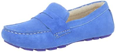 Cole Haan Women's Sadie Shearling Driver Loafer,Blue Topaz,5 B US