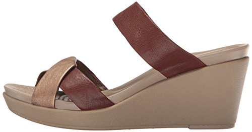 Pictures of Crocs Women's Leigh-Ann Leather Wedge Sandal Crocs Leighann Leather Wedge 5