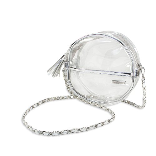 Designs Purse Canteen Travel Silver Stadium Security Clear Approved Capri Crossbody dI4wPxOOq