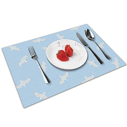Candy Ran Cartoon Indoor/Outdoor Placemats/Place Mats/Table Mats Set of 4, Kitchen Tablemats for Dining Table, Non-Slip Washable Heat Resistant -