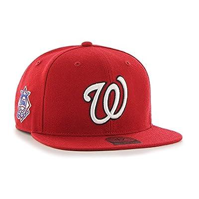 '47 Forty Seven Brand Washington Nationals Red Sure Shot Snapback Cap Limited