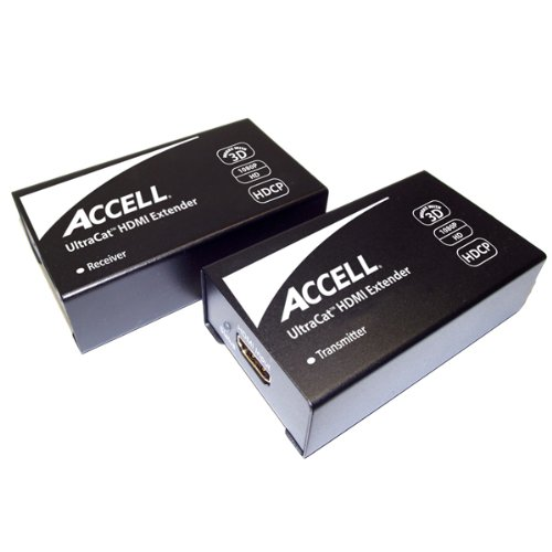 Accell E090C-005B UltraCat HDMI to Single Cat5e Extenders - Up to 1080P and 3D over 164ft with Single Cat5e Cable by Accell