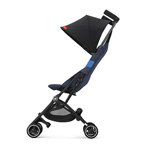 Gb Pockit+ All-Terrain, Ultra Compact Lightweight Travel Stroller With Canopy And Reclining Seat In Night Blue