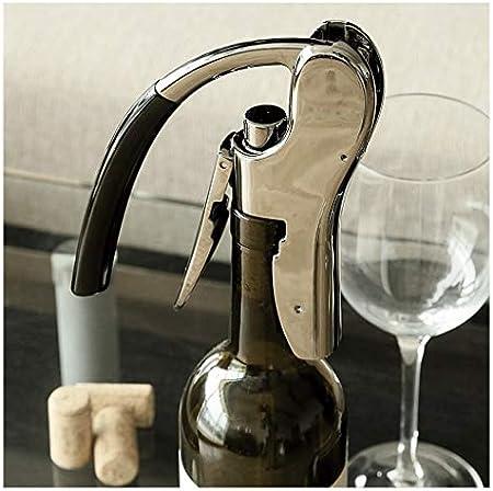 Sacacorchos para Botellas Sacacorchos Sacacorchos portátil compacto vertical del corcho del vino destornillador de herramienta del hogar del sacacorchos del vino (Negro) Abridor Botellas