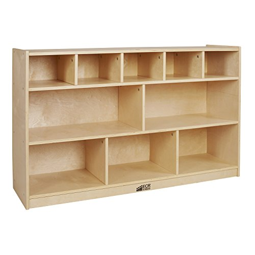 ECR4Kids Birch 5+5 Storage and Tray Cabinet, Natural