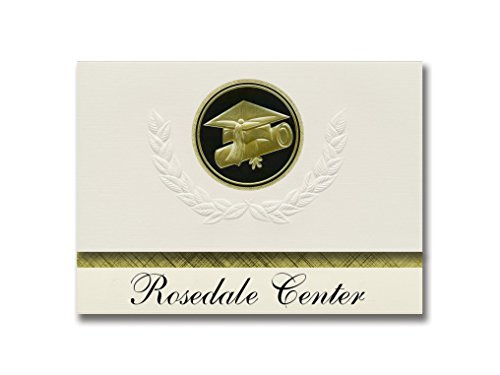 Signature Announcements Rosedale Center (Baltimore, MD) Graduation Announcements, Presidential style, Elite package of 25 Cap & Diploma Seal. Black & ()