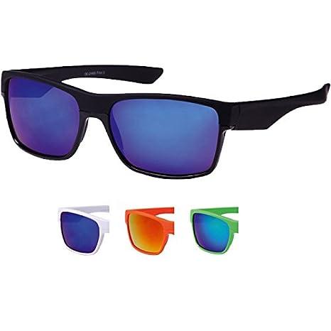 Chic-Net Sonnenbrille Nerd Sportbrille bunt verspiegelt 400 UV Wayfarer schmal schwarz kvoaNIVVDB