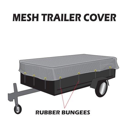 "utility trailer mesh cover with 10 pcs of 9"" rubber bunge..."
