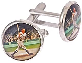 product image for JJ Weston 1920's Baseball Player Cufflinks. Made in The USA.
