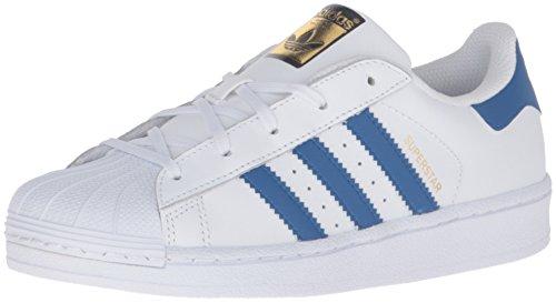 Adidas Kids' Superstjerne FunDamet El C Sneaker Hvid / Satellit / Hvid VKCSMcQ2Cr