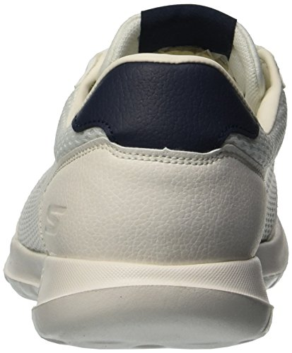 Lite Mujer Skechers15462 Azul Marino Go Walk Blanco Flare RqIEFI