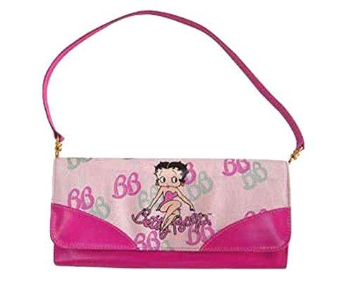 Betty Boop original Pouch Handbag for women - Small size 11 x 24 cm Pink