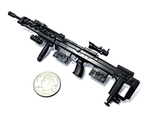 "Price comparison product image 4D 1/6 Scale DSR-1 Bolt-Action Rifle Sniper Gun Model German Police Fit For 12"" Action Figure (Mini Toy Gun 7"" long)"