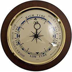 Brass Tide Clock on Cherry Wood, T.P.